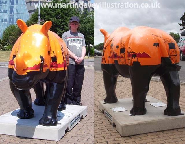 rhino front and rear views