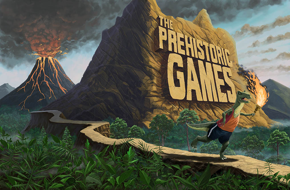 cover art for prehistoric games book